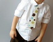 Tie for your Little Guy - Mod Dots 12M, 2T, 3T,  4T or 5T