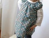 Sweet Little Dress - Polka Dots Blue - 4T - reserved for mflana