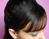 BLACK Noir Silk Headband 1 Inch Skinny Soft Fabric Hair Accessory