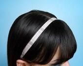 TAN Plaid Cotton 1/2 Inch Soft Fabric Headband