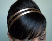CARAMEL Headband Silk 1/4 Inch Skinny Soft Fabric Hair Accessory