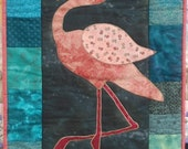 Miss Flamingo Quilted Banner