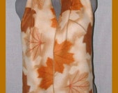 Autumn Enchantment Fleece Scarf, Seasonal Muffler, Hojas de Otono Bufanda