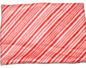 22 Inch, Peppermint Stripe Fleece Neck Warmer, Holiday Gaiter, Buff, Pull Over Style