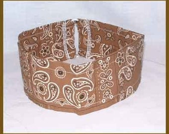 Bandana, Bandanna Headband, Brown Hair Band, Western Hair Tie, Ponytail Holder