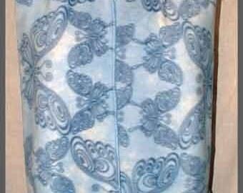 Butterfly Print Fleece Scarf, Muffler, Neck Scarf, Blue, Unisex