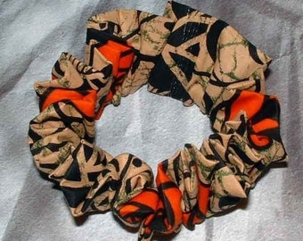 Cool Punky, Funky Gothy, Grungy Hair Scrunchie, Hair Tie, Ponytail Holder, Adult Large