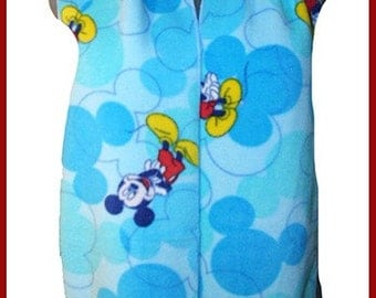 Mickey Ears Camouflage Fleece Scarf, Animated Character Muffler, Neck Scarf
