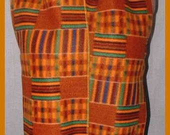 Basket Weave Fleece Scarf, Western Muffler, Unisex Bufanda, Rustic & Primitive