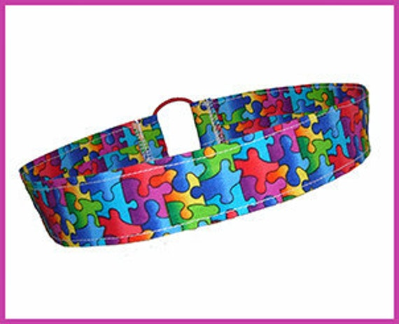 Autism Headband, Rainbow Puzzle Piece Hair band, Special Interest Novelty, Thin/Slim