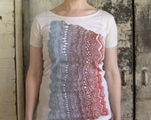 SECONDS SALE - Women's Organic Geology Wave Tee - Natural, Size S or M
