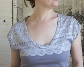 SECONDS SALE - Women's Geology Lace Tee - size L