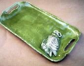 BLACK FRIDAY Etsy Ceramic Owl  Serving Tray