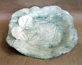 Ceramic Leaf Impressed Bowl