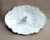 Lace Ceramic  Multiple Ring Holder