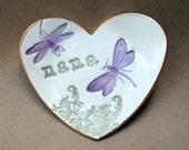 Ceramic Nana Trinket Dish Heart