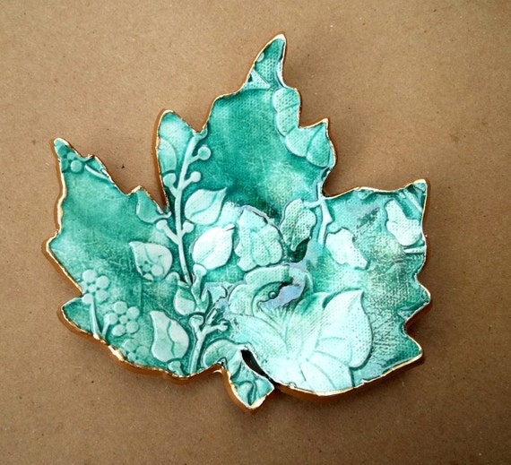 Ceramic Leaf Soap Dish Spoon Rest Anything Dish