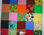 Quilted I Spy Security Blanket for Babies or Toddlers -SALE