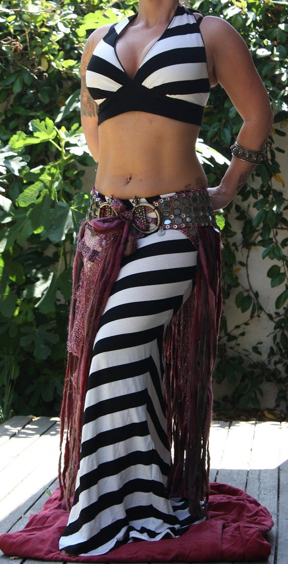 Circus Tribal Fusion Skirt and Halter Top