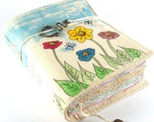Spring Flowers, Painted Fabric Journal