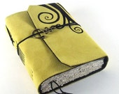 Lemon Swirls -  Leather Journal, Notebook, Diary