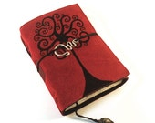 Swirl Tree -  Leather Journal, Notebook, Diary