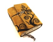 Swirl Plant -  Leather Journal, Notebook, Diary