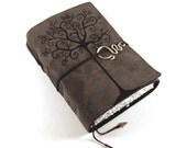 Swirl Tree - Leather Journal, Diary, Book
