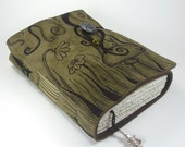 Enchanted Forest, Leather Journal, Notebook, Suede