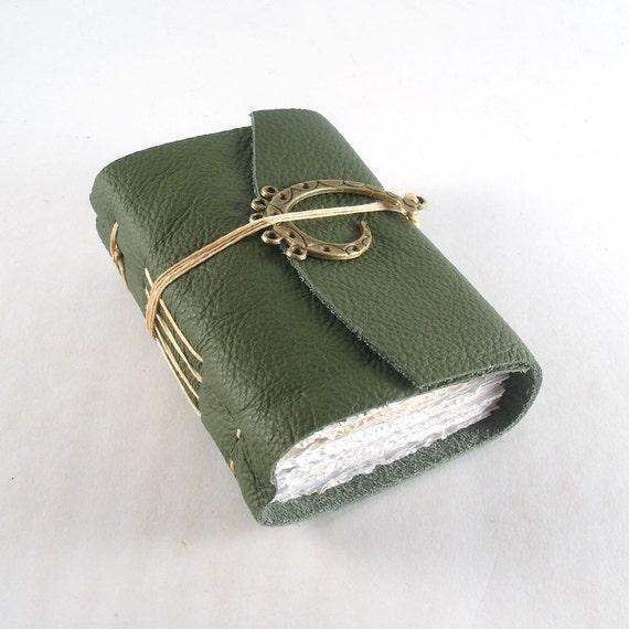 Olive, Mini Leather Journal