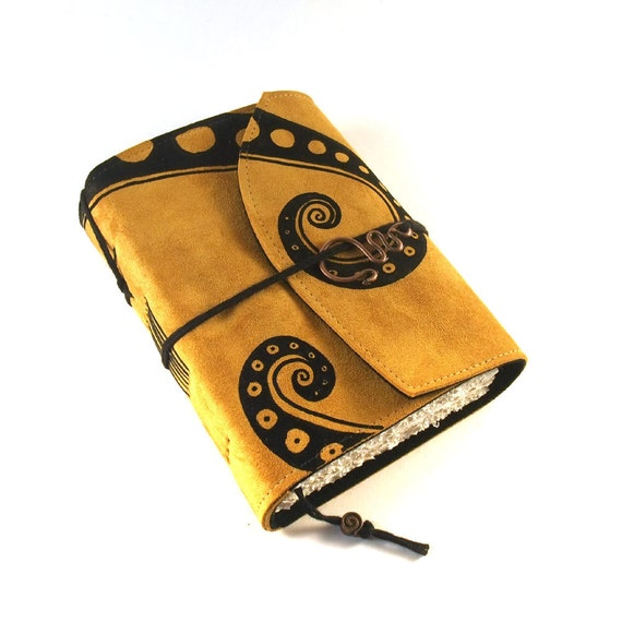 Golden Swirl -  Leather Journal, Notebook, Diary