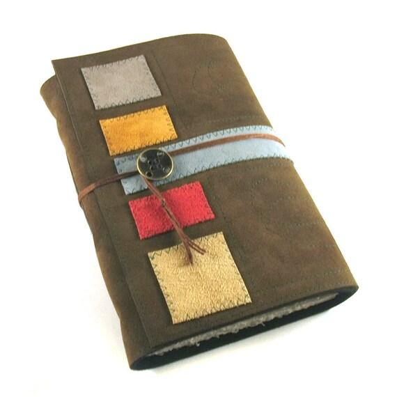 Journal, Leather, Sketchbook, 6.3 x 9, Mondrian