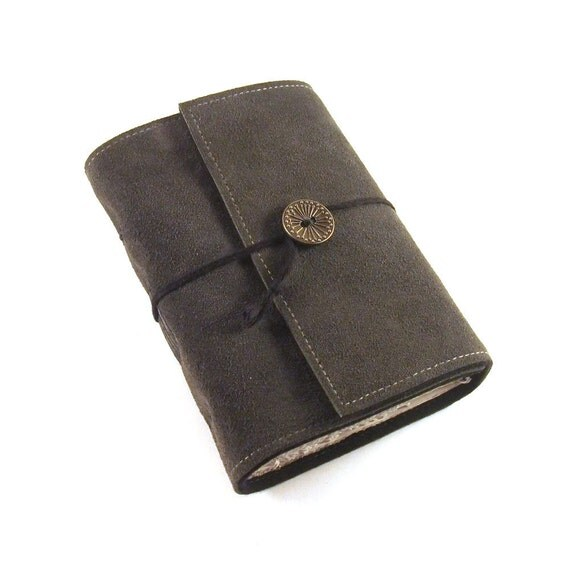 Journal, Leather, Suede, Diary, Handmade: Earl Grey
