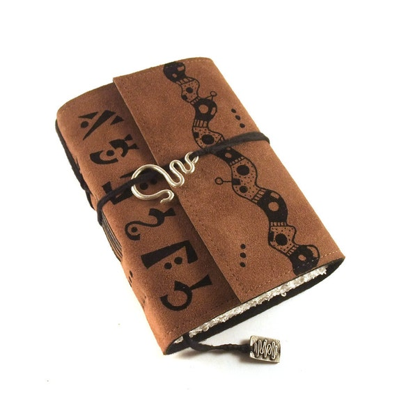 SALE Leather Journal, Suede: Outlandish