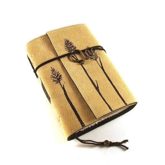 Leather Journal, Blank, Bound, Grasses