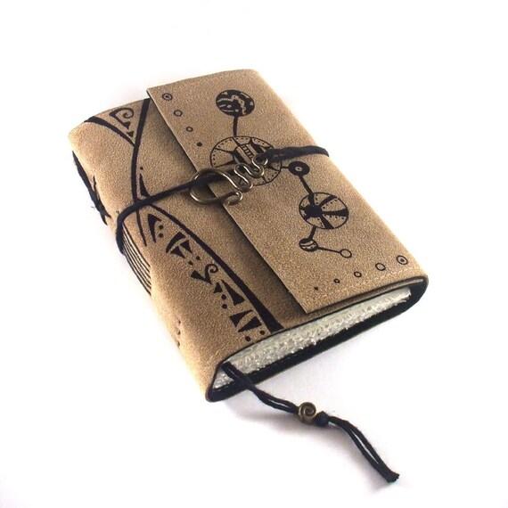 SALE Leather Journal, Suede: Alien