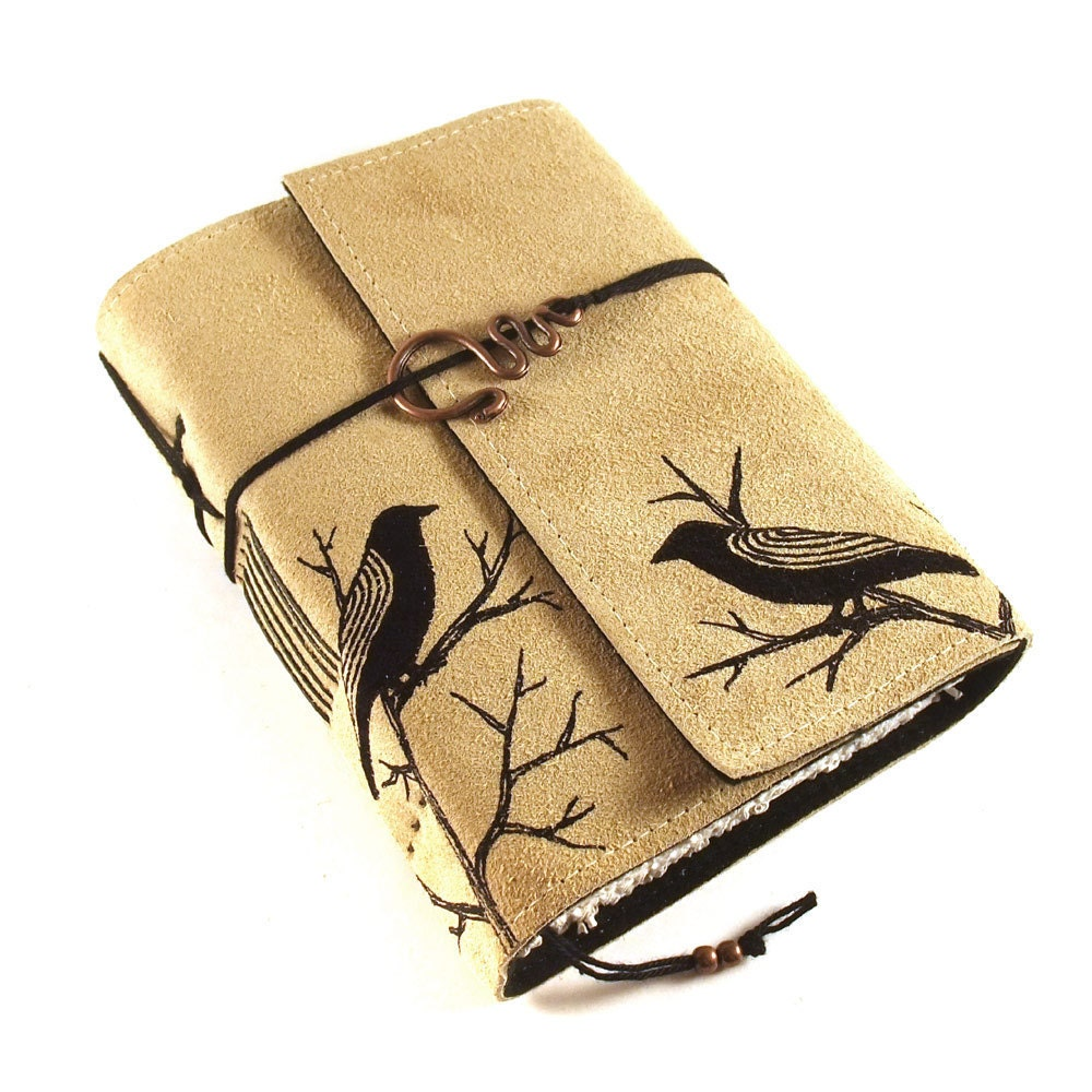 buch leder notizbuch tagebuch black birds. Black Bedroom Furniture Sets. Home Design Ideas