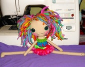 Doodles Handspun Wool Haired Bedhead Doll