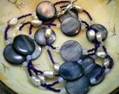 SALE ... Midnight Beach Necklace