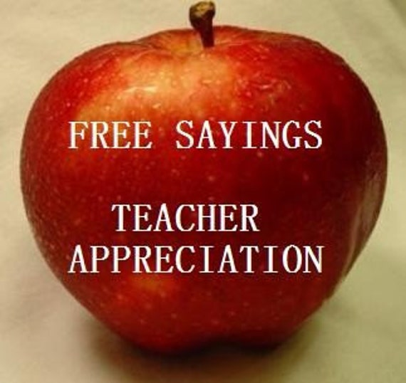 FREE CUTE SAYINGS FOR TEACHER APPRECIATION by naturesafflatus
