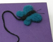 RESERVED FOR LOJUS - Blue Butterfly Bookmark - needle felted