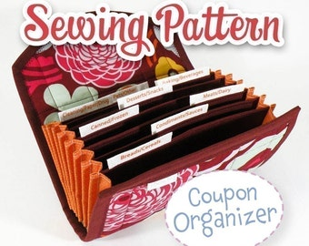 PDF SEWING PATTERN - Coupon Organizer Expense Organizer Coupon Wallet Instant Download