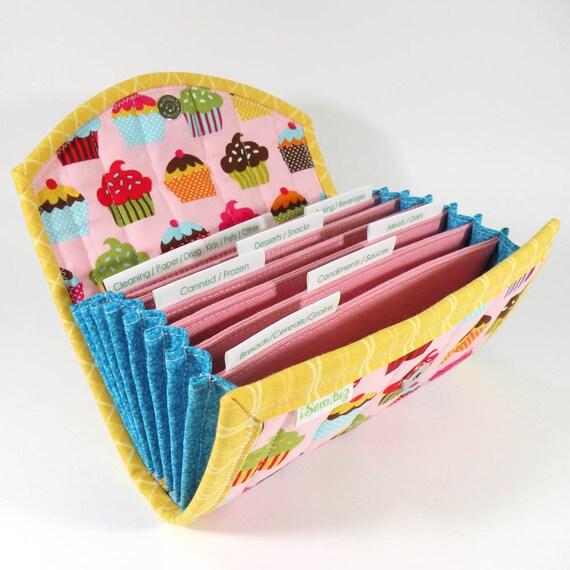 COUPON ORGANIZER - Pink Cupcakes