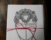 Set of 10 Bookplates- wise owl