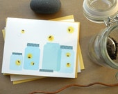 Catching fireflies--Summer Card: single or boxed set