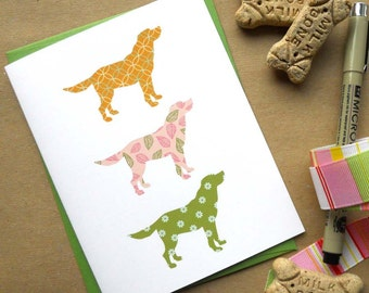 Preppy Pink Puppies Card: Single Card or Boxed Set