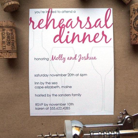 Vino Dot - Rehearsal Dinner Invites Set of 30