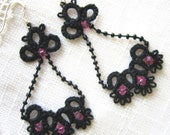 Victorian Lacy Earrings  - Reserved for Chentola