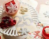 vintage inspired Christmas tag banner kit
