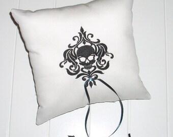 Goth Skull Ring Bearer Pillow 2